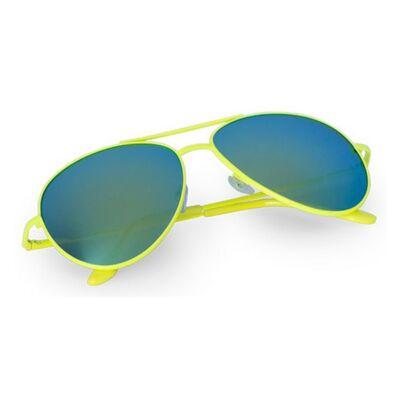 Pilóta fazonú, tükörlencsés, színes keretes uniszex napszemüveg (sárga), UV 400