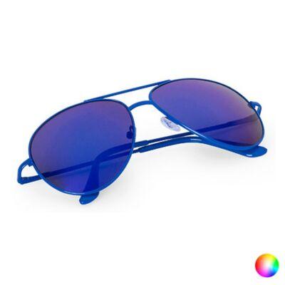 Pilóta fazonú, tükörlencsés, színes keretes uniszex napszemüveg (kék), UV 400