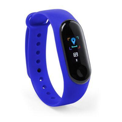 Aktivitásmérő óra, pulzusmérővel, lépésszámlálóval, sms-értesítővel, kalóriaszámolóval, kék