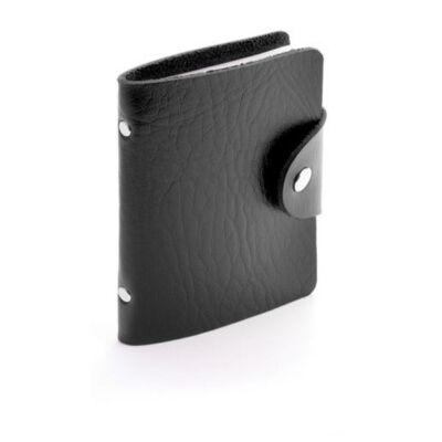 Műbőr kártyatartó (8X10,7 cm), fekete