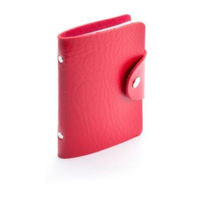 Műbőr kártyatartó (8X10,7 cm), piros