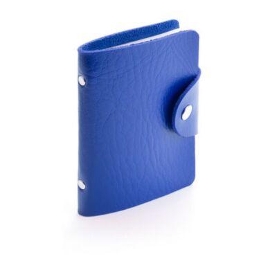 Műbőr kártyatartó (8X10,7 cm), kék