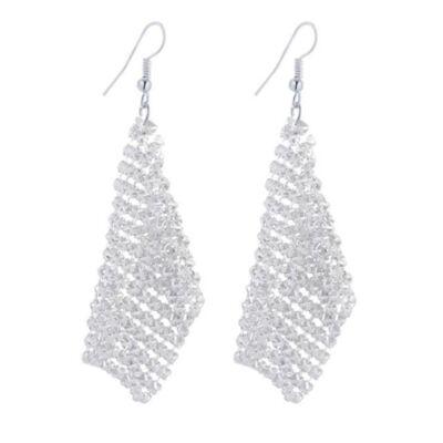 From Maria King hosszú láncos fülbevaló, ezüst színű