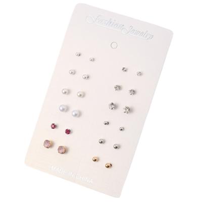 12 pár pici fülbevaló szett, ezüst és arany, pink-piros