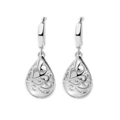 From Maria King Ezüst ötvözet, csepp alakú opál fülbevaló, áttetsző