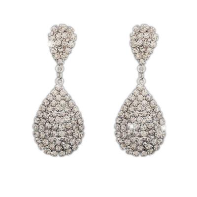 From Maria King Gyönyörű kristályokkal kirakott csepp alakú fülbevaló