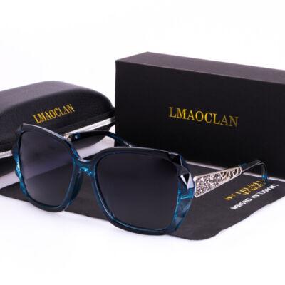 Divatos női napszemüveg, polarizált lencsével, kék