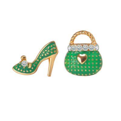 Magassarkú és táska fülbevaló, zöld