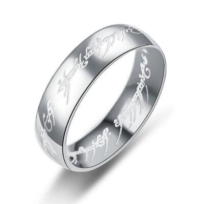 Gyűrűk ura gyűrű ezüst nemesacél gyűrű, 8