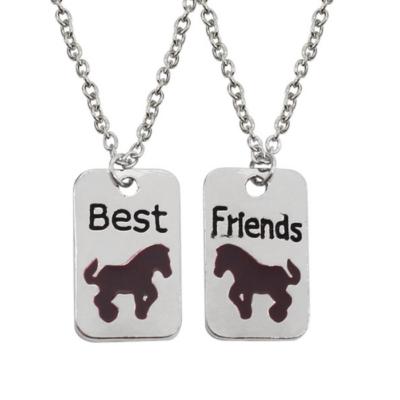 Legjobb barátok - lovacskás páros nyaklánc