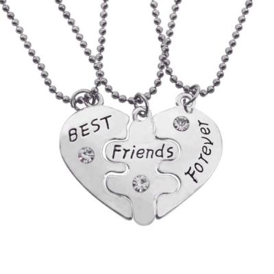 "Legjobb Barátok Örökké, ""Best friends forever"" hármas nyaklánc"