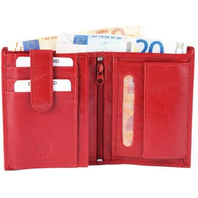 Akzent uniszex pénztárca, valódi bőr (10x12) - piros