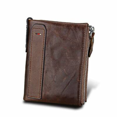 Maria King valódi bőr luxus uniszex pénztárca (12,1x9,4 cm), sötétbarna
