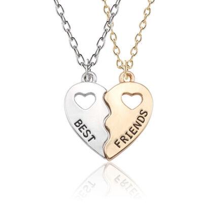 Best friends páros nyaklánc, arany-ezüst színű