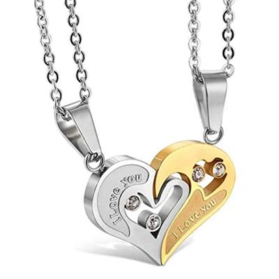 'I love you' páros nyaklánc, arany-ezüst