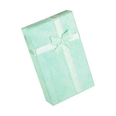 Kék masnis ajándék ékszerdoboz