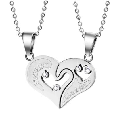 'I love you' páros nyaklánc, ezüst színű