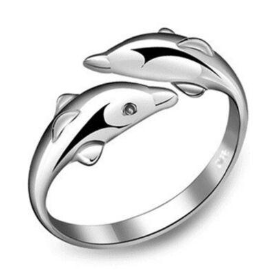 Delfines gyűrű, állítható méretű