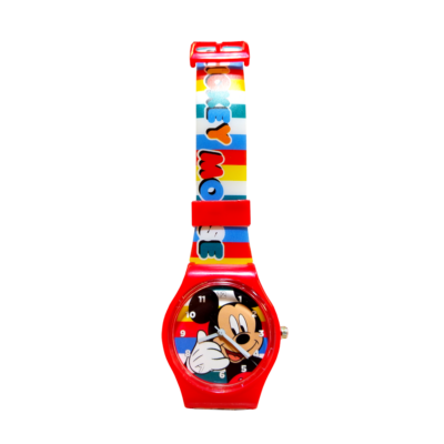 Disney Mickey Karkötőóra fémdobozban - piros (eredeti)