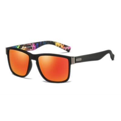 DUBERY polarizált férfi napszemüveg, narancssárga tükörlencse, mintás szár