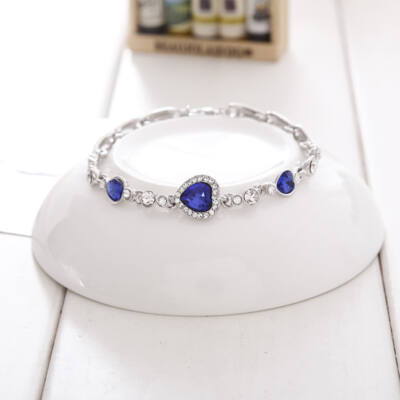 """From Maria King """"Óceán szíve"""" (Titanic) motívumos kristály karkötő, kék"""