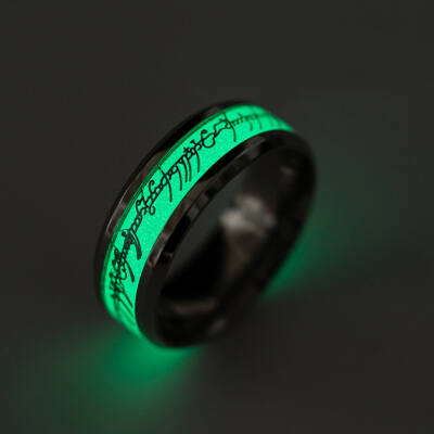 Sötétben világító Gyűrűk ura gyűrű, nemesacél, 7-es