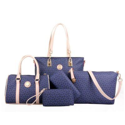4a1cb3131764 5 részes divatos női táska szett, kék