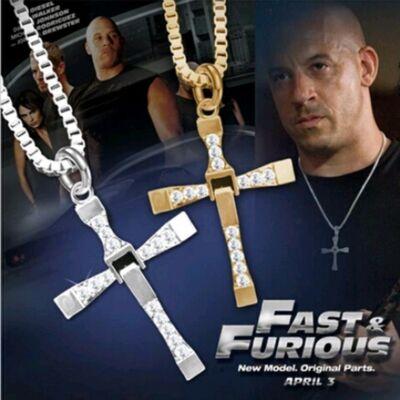 Dominic Toretto kereszt nyaklánca a Fast and Furious c. filmből, ezüst