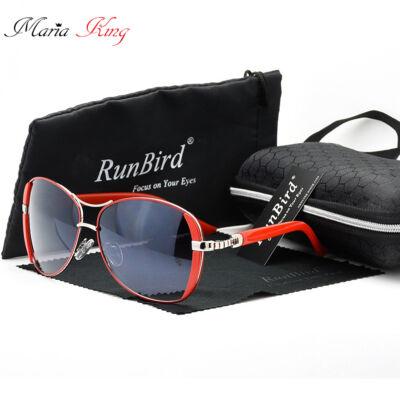 RUNBIRD divatos retro női napszemüveg, piros