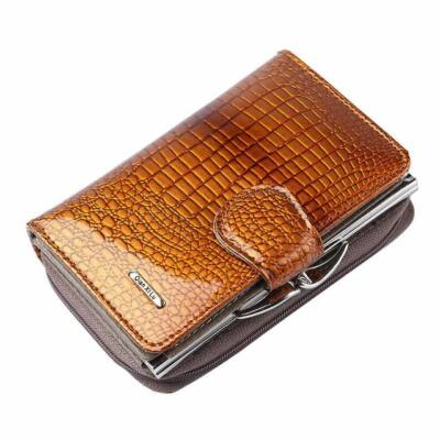 1b7a566c9056 Maria King barna luxus valódi bőr pénztárca