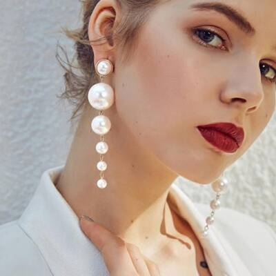 Maria King ultratrendi mesterséges gyöngy fülbevaló