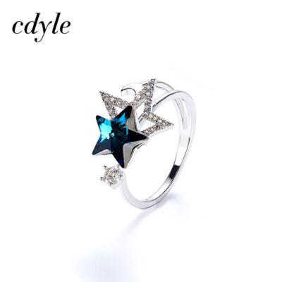 Swarovski csillag kristályos állítható méretű gyűrű