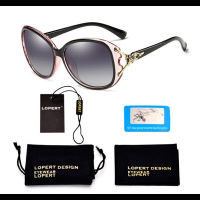 LOPERT fekete-pink keretes női napszemüveg 72423ea5df