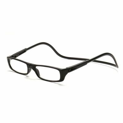 Mágneses, nyakba akasztható polarizált olvasószemüveg, fekete, több méretben