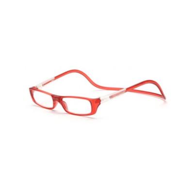 Mágneses, nyakba akasztható polarizált olvasószemüveg, piros, +1-es