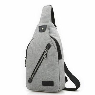 92c0c62c3ca2 Kicsi, kényelmes uniszex vászon hátizsák (26x6x16 cm), szürke