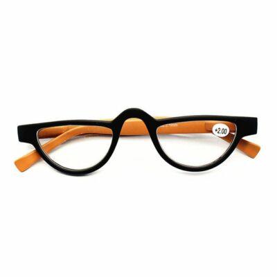 UVLAIK narancssárga-fekete kicsi olvasószemüveg, több erősségben