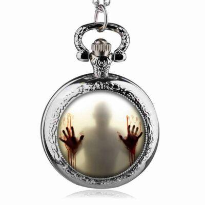 The Walking Dead nemesacél zsebóra, ezüst színű