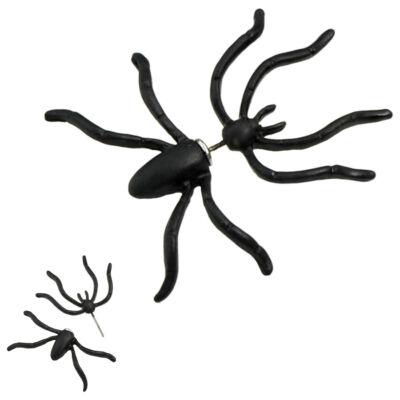 Fekete pókos, két részes fülbevaló