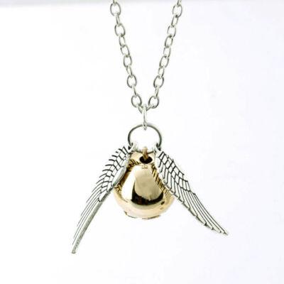 Szárnyas Harry Potter cikesz medál nyaklánccal, ezüst színű