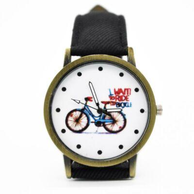 Unisex, vintage biciklis óra