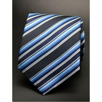 8011289d38 Fekete - kék csíkos nyakkendő
