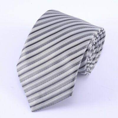0f15233424 Szürke, fekete - ezüst csíkos nyakkendő