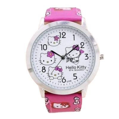 Hello Kitty óra, rózsaszín szíjjal
