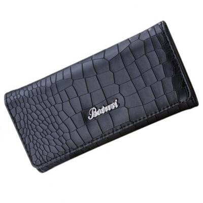 Fekete divatos pénztárca