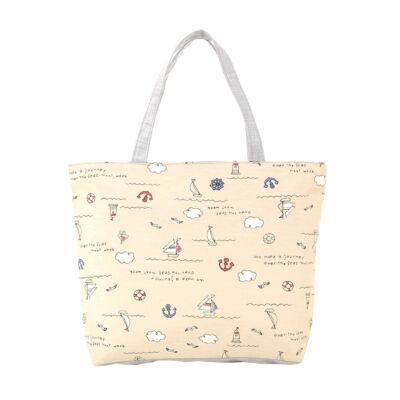 Aranyos mintás vászon táska bézs színben - Női táskák - WebMall ... 8e442a17e9
