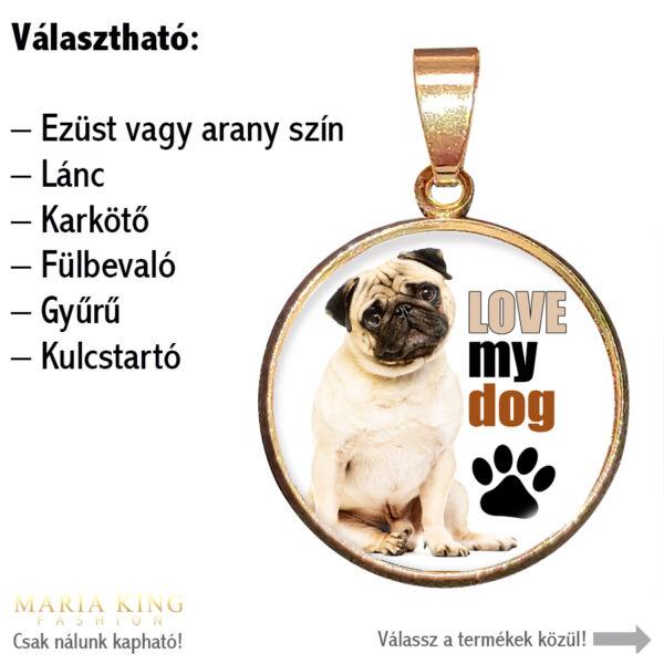 Love my dog-medál-lánccal-vagy-választható-karkötőre-fülbevalóra-kulcstartóra-medál-lánccal-vagy-választható-karkötőre-fülbevalóra-kulcstartóra