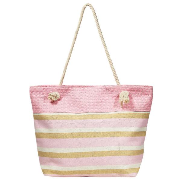 Lady pink csíkos nyári táska