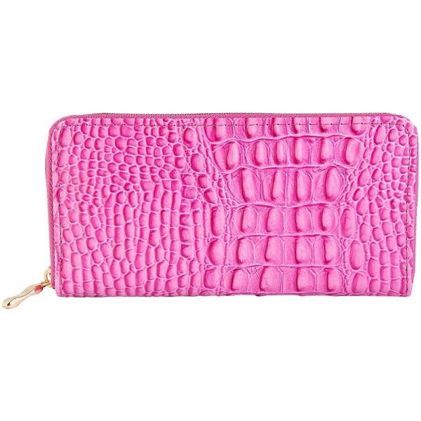 Maria King Trendi Női Pénztárca, retro kígyóbőr utánzat, pink (20x10)