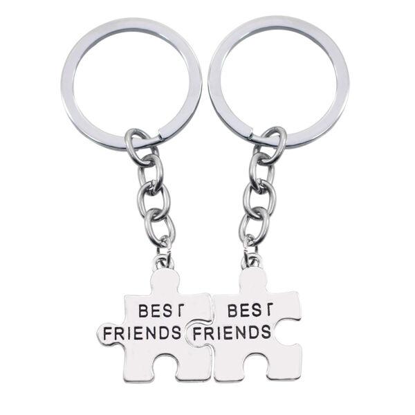 Best friends páros puzzle kulcstartó